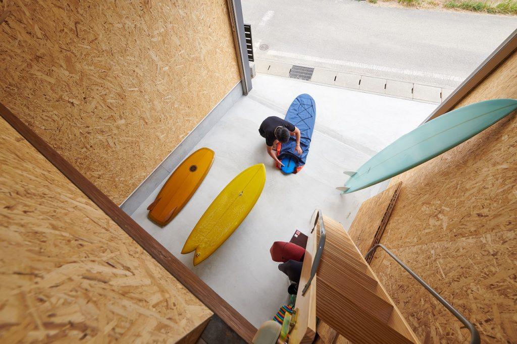 サーフボード収納スペース